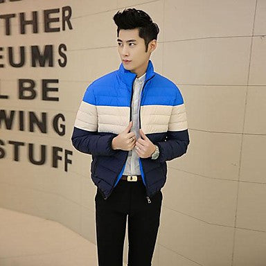 Men's Slim Cotton Solid Color Jacket