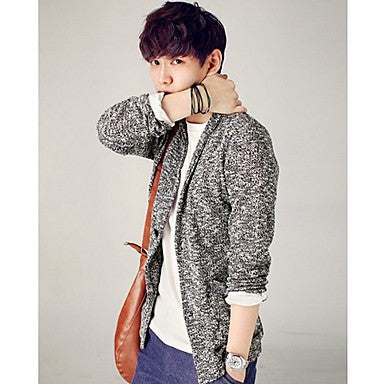 Men's V-Neck College Style Cotton Cardigans