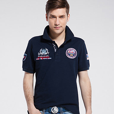 Men's Fashion T-Shirt Collar Embroidery