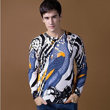 Men's V-neck pattern animals Hot Classic Casual Long-sleeved Sweaters