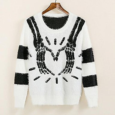 Men's New Winter Mohair Palm Pattern Crewneck Sweater