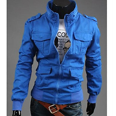 Men's Korean Style Stand Casual Jacket