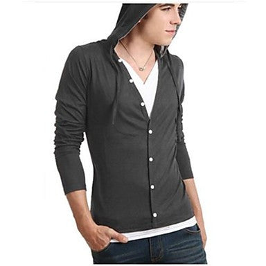 Men's Casual Fashion V Neck Long Sleeve T-Shirt