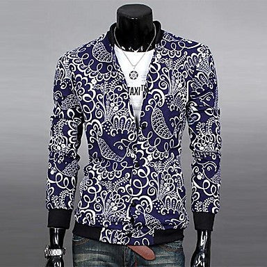 Men's Trendy Pattern Slim Jacket