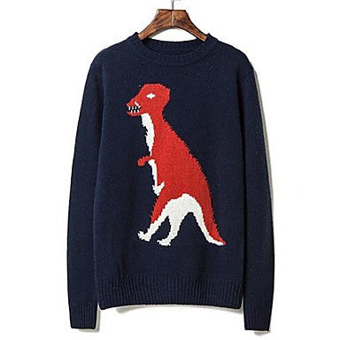 Men's Autumn and winter personality dinosaur - turtleneck sweater.