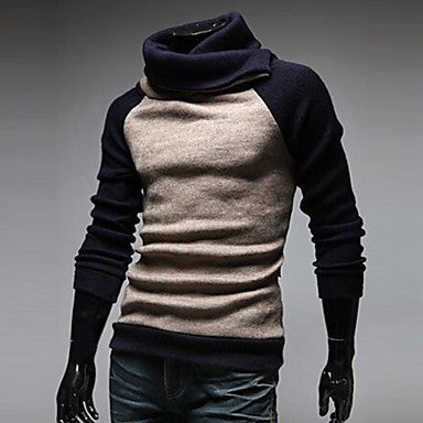 Men's Raglan Sleeve High Collar Sweaters