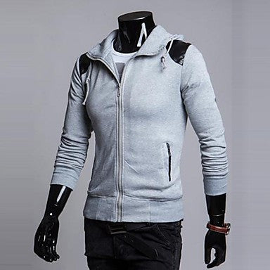 Men's Fashion Contrast Color Hoodie