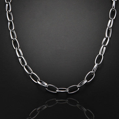 51cm,10mm,Silver-Plated Luxurious Figaro Chain Men's Thick Chunky Chain Necklace,Uneasy Fade