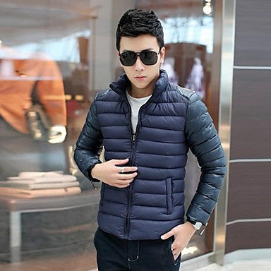 Men's Slim Stand Casual Fashion Coat