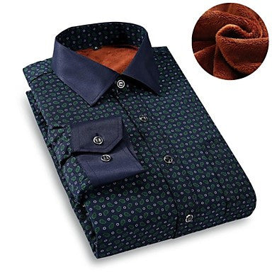 Men's Fashion Printing Flannelette Shirt