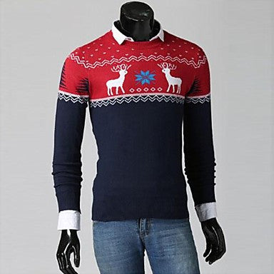 Men's Classic Deer Snow Four-color Sweaters T-shirts