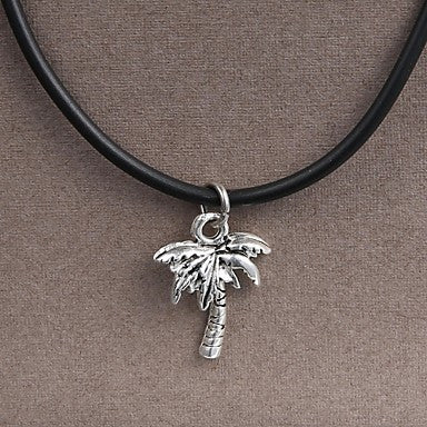 Fashion Stainless Steel Coconut tree Pendant Necklace