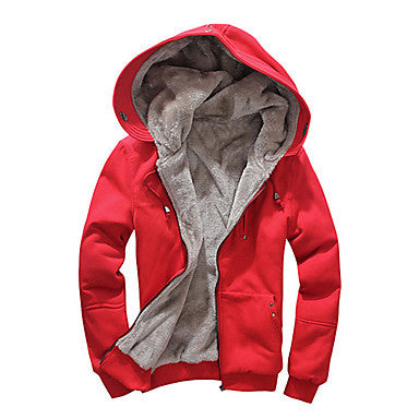 Men's Korean Slim Hooded Cardigan Coat
