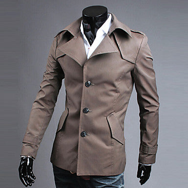 Men's Elegant Single Breasted Trench Coat