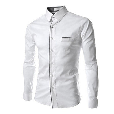 Men's Shirt Collar Casual Long Sleeve Shirts