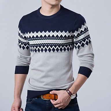 Men's Autumn Knitting Long Sleeve Slim Fit Fit Casual Pullovers Sweaters