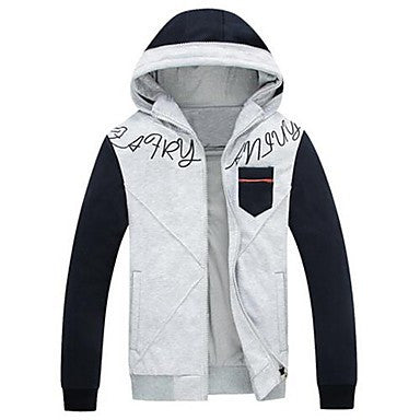 Men's Autumn and Winter Hooded Sweater Coat
