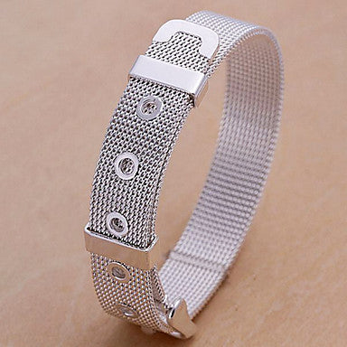 Fashion 6.6cm Men's Silver Copper Chain & Link Bracelet(1 Pc)