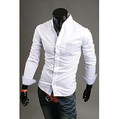 Men's 3 Colore Long Sleeve Cotton Shirts