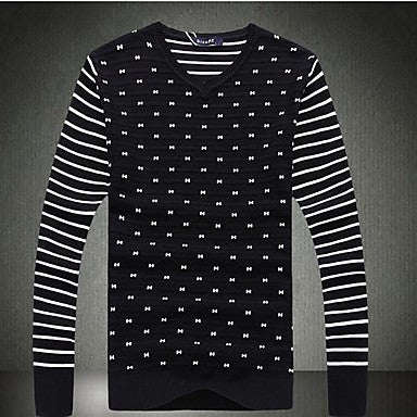 Men's Fashion Leisure V Neck Sweater