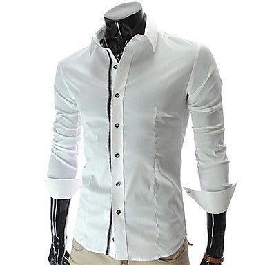 Men's Lapel Fashion Long Sleeve Personality Cultivation Shirt