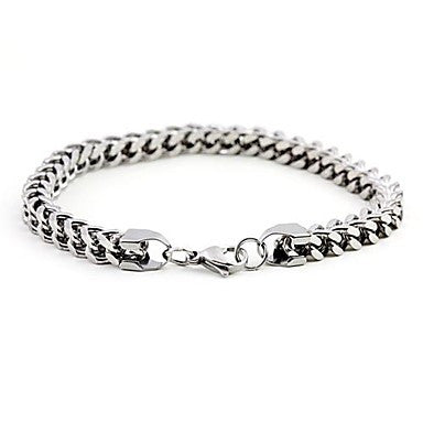 Mumar Fashionable Stainless Steel Bracelets Men's Jewelry 0.6cm Width