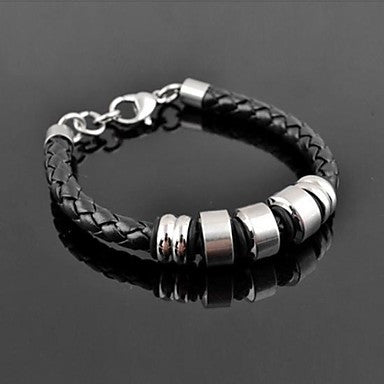 Men's Fashion Simple Classic Personality Titanium Steel Five Sections of Weaving Bracelets