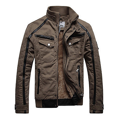 Men's Faded Fashion Warm Coat Jacket