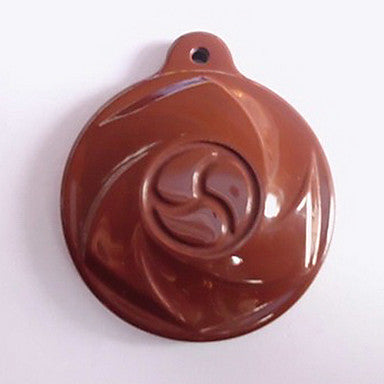 Health Caring Ethnic Round Shaped Brown Resin Pendant (1 Pc)