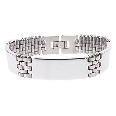 Arch Bridge Pattern Stainless Steel Bracelet