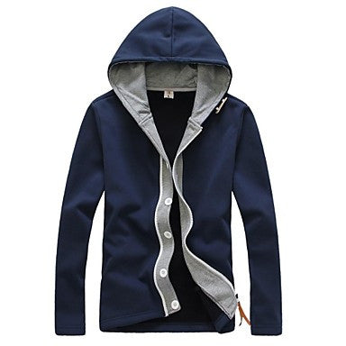 Men's New Fashion Long Sleeve Cardigan Casual Cotton Blended Hoodies