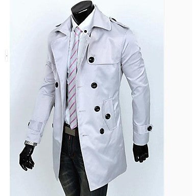 Men's Fashion Leisure Double Breasted Coat