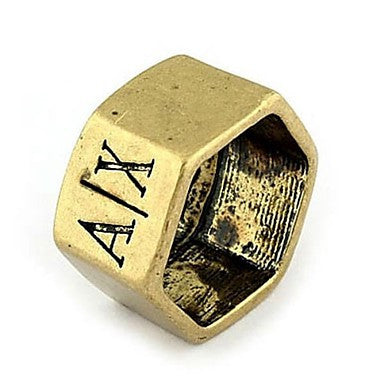 Fashion Alloy Letters A X Band Shield Rings Random Size
