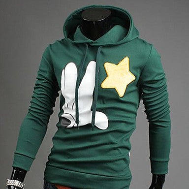 Men's Korean Style Flocking Hooded Sweatshirt