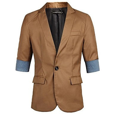 Men's Casual Jacket Trade Long Half Sleeve Suit Coats