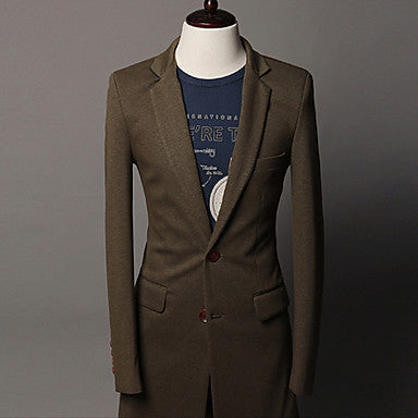 Men's contrast color stand collar slim commuter suit