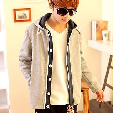 Men's Basic Long Sleeve Hoodie 17002 A