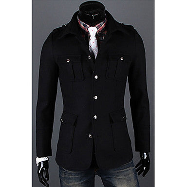 Men's Slim Tweed Coat