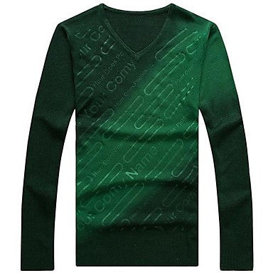 Men's Clothing Color Matching Long Sleeve Knit Sweater