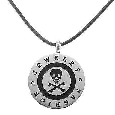 Vintage Round Skull Shape Men's Pendant Necklace(1 Pc)