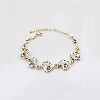 Fashion Women Alloy Love the peach Chain & Link Bracelets