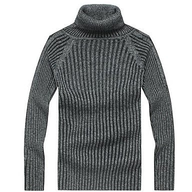 Men's Turtleneck Solid Color Sweater