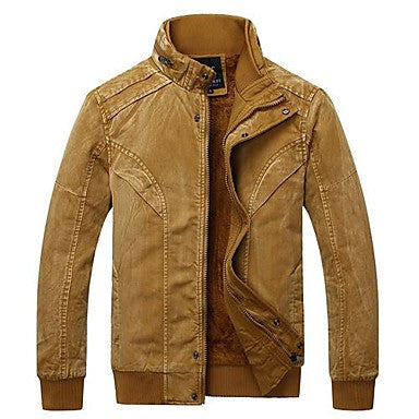 Men's Fashion Retro Casual Cultivation Thickened with Cotton Jacket