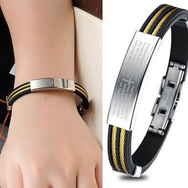 Cross Bible Character Joker Punk Silicone Bracelet Both Men and Women