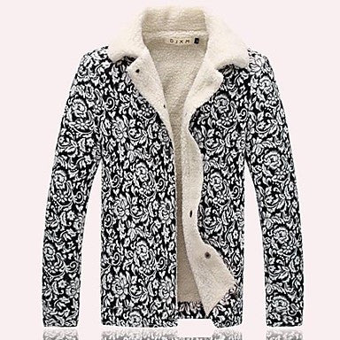 Men's Printed Cotton Coat