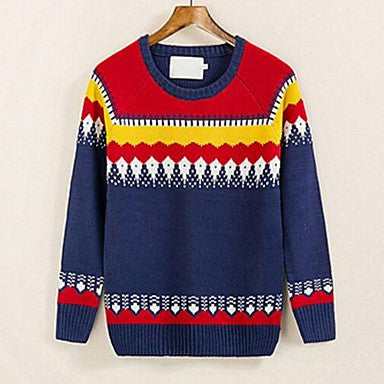 Men's New Octopus Jacquard Self-Cultivation Crewneck Sweater