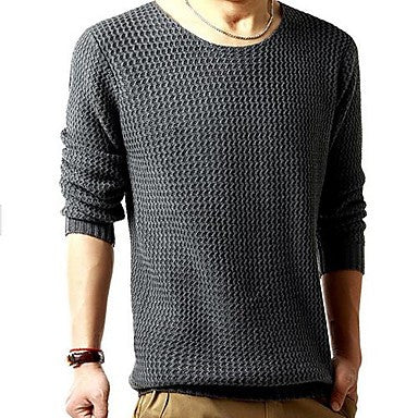 Men's Solid Color Pullover Sweater