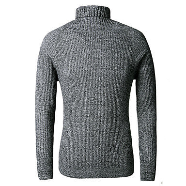 Men's High Collar Base Knit Sweater