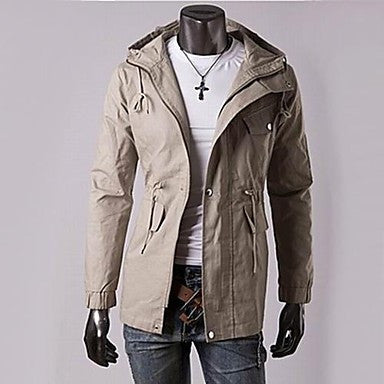 Men's Casual Fashion Hoodie Trench Coat