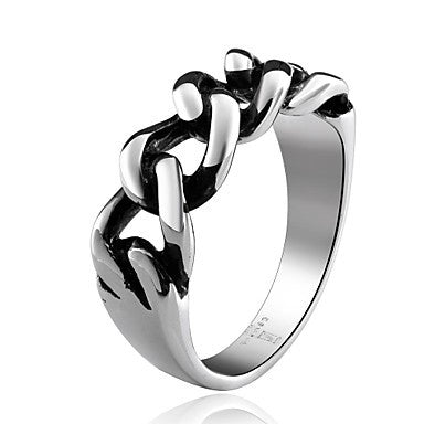 Chain Super Cool Personality Man Titanium Steel Ring
